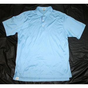 Peter Millar Short Sleeve Polo Shirt Size Large